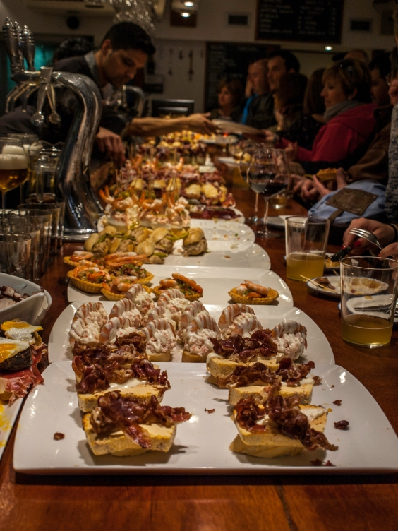 "The famous ""Pinchos"" in San Sebastián, País Vasco"